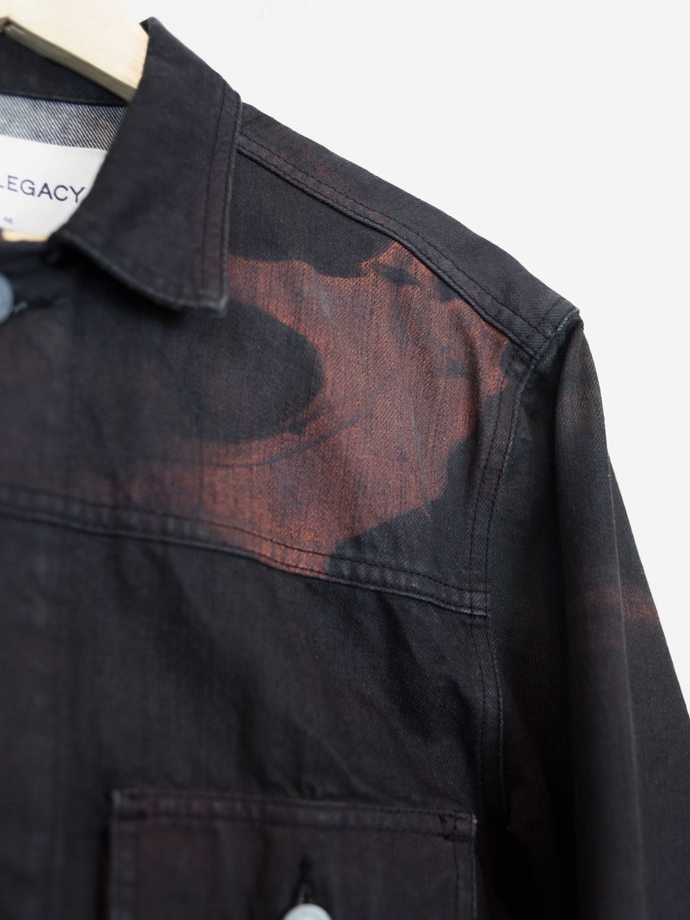 Our Legacy AW14 Black Dawn Minimalist Denim Jacket