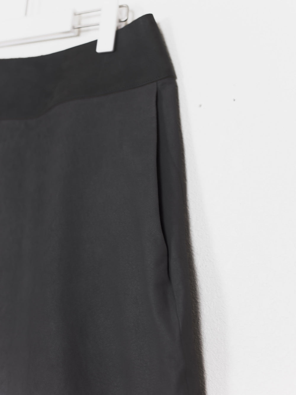 Rick Owens AW10 Leather Slit Skirt