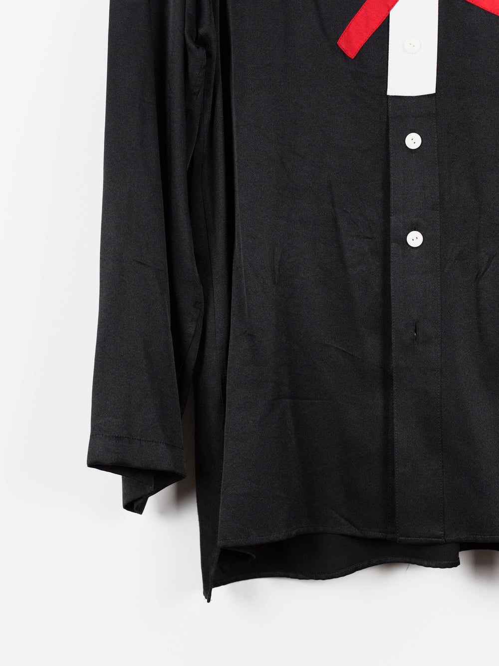 Yohji Yamamoto Pour Homme SS17 Pullover X Patchwork Silk Shirt