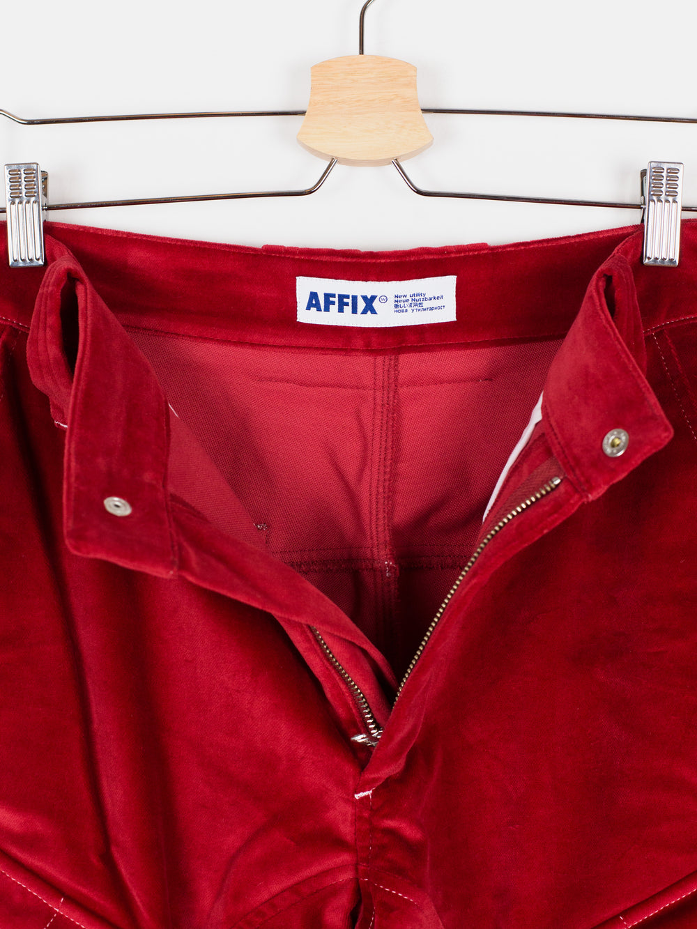 Affix Works AW18 Red Velvet Work Cargos