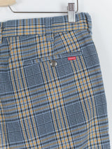 Supreme SS19 Work Pants in Blue Plaid