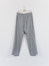 Mackintosh 0003 AW18 Grey Wool Wide Leg Utility Pant