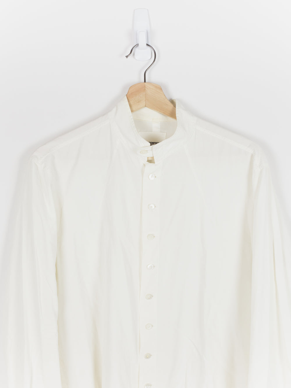 Takahiromiyashita The Soloist Silk/Cotton Band Collar Shirt
