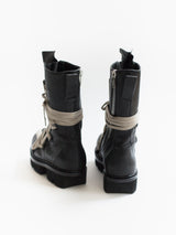 Rick Owens SS20 Megatooth Laced Army Boots