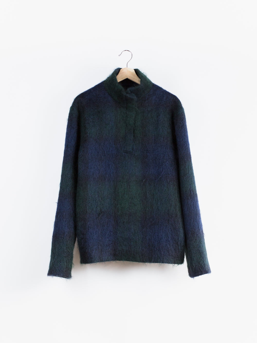 Bless Mohair Check Pullover Jacket
