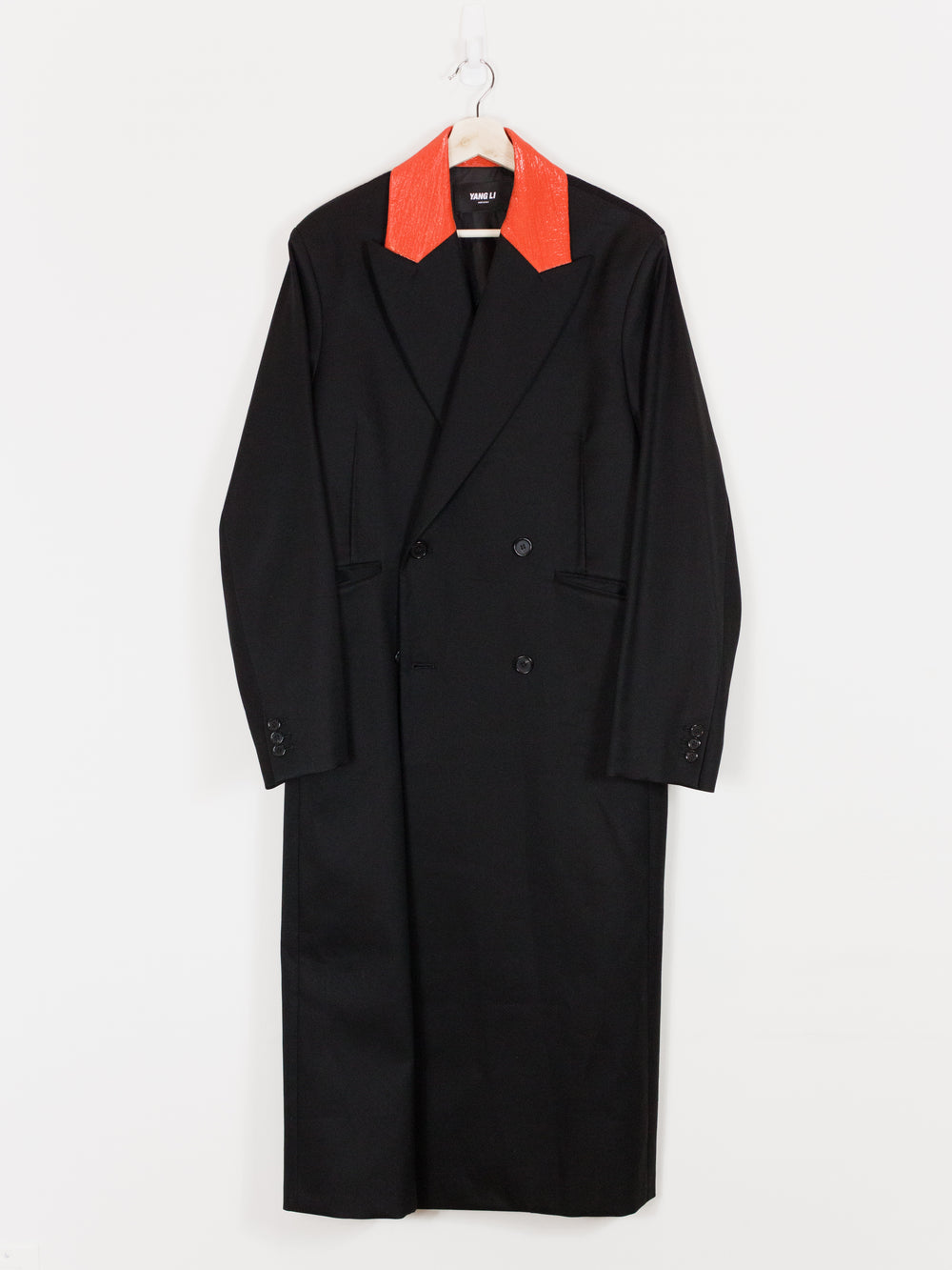 Yang Li SS17 Painted Collar Double-Breasted Long Coat