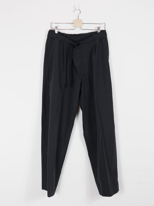 Mackintosh 0001 AW17 Pleated Wide-Leg Shell Trousers
