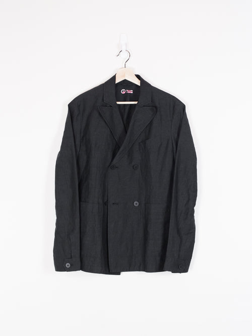 Outlier Injected Linen Double-Breasted Blazer