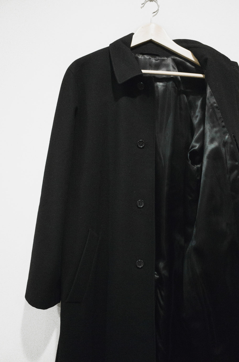 Helmut Lang Wool/Cashmere Boxed Shoulder Mac