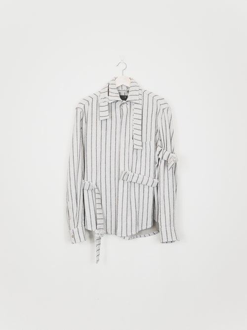 Craig Green AW16 Wool Striped Strap Shirt