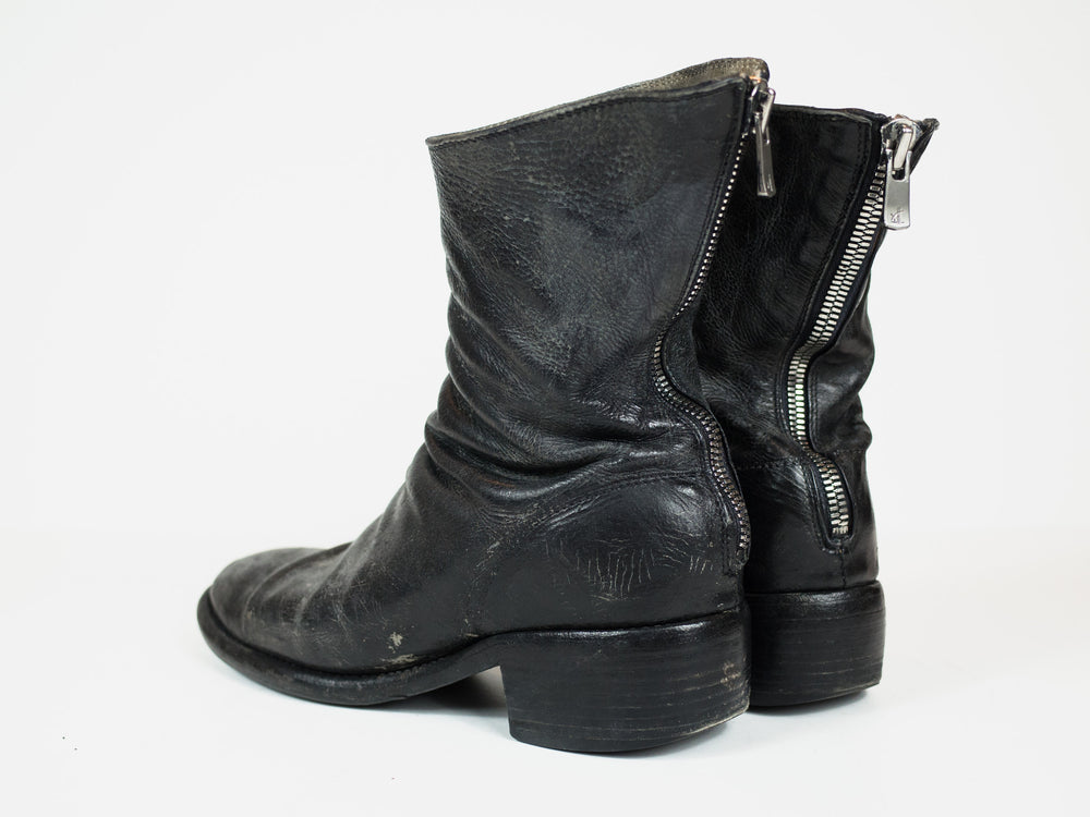 Guidi 788Z Stacked Heel Backzip Boots