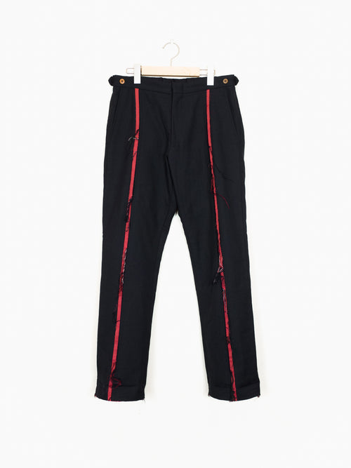 Comme des Garcons Homme Plus AW02 Raw Front Stripe Trousers