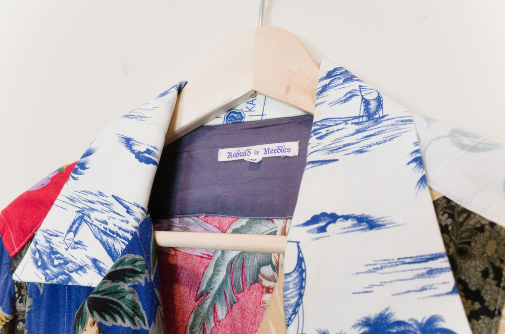 Needles Rebuild Patchwork Hawaiian Shirt