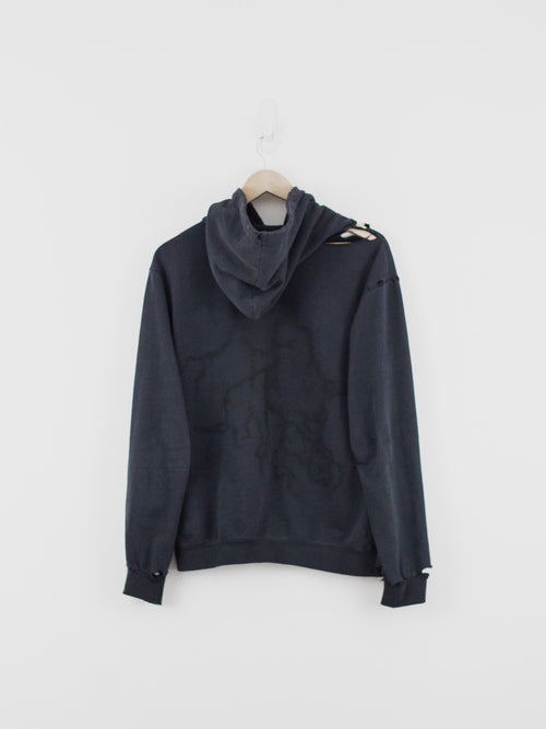Raf Simons AW02 Destroyed Hoodie