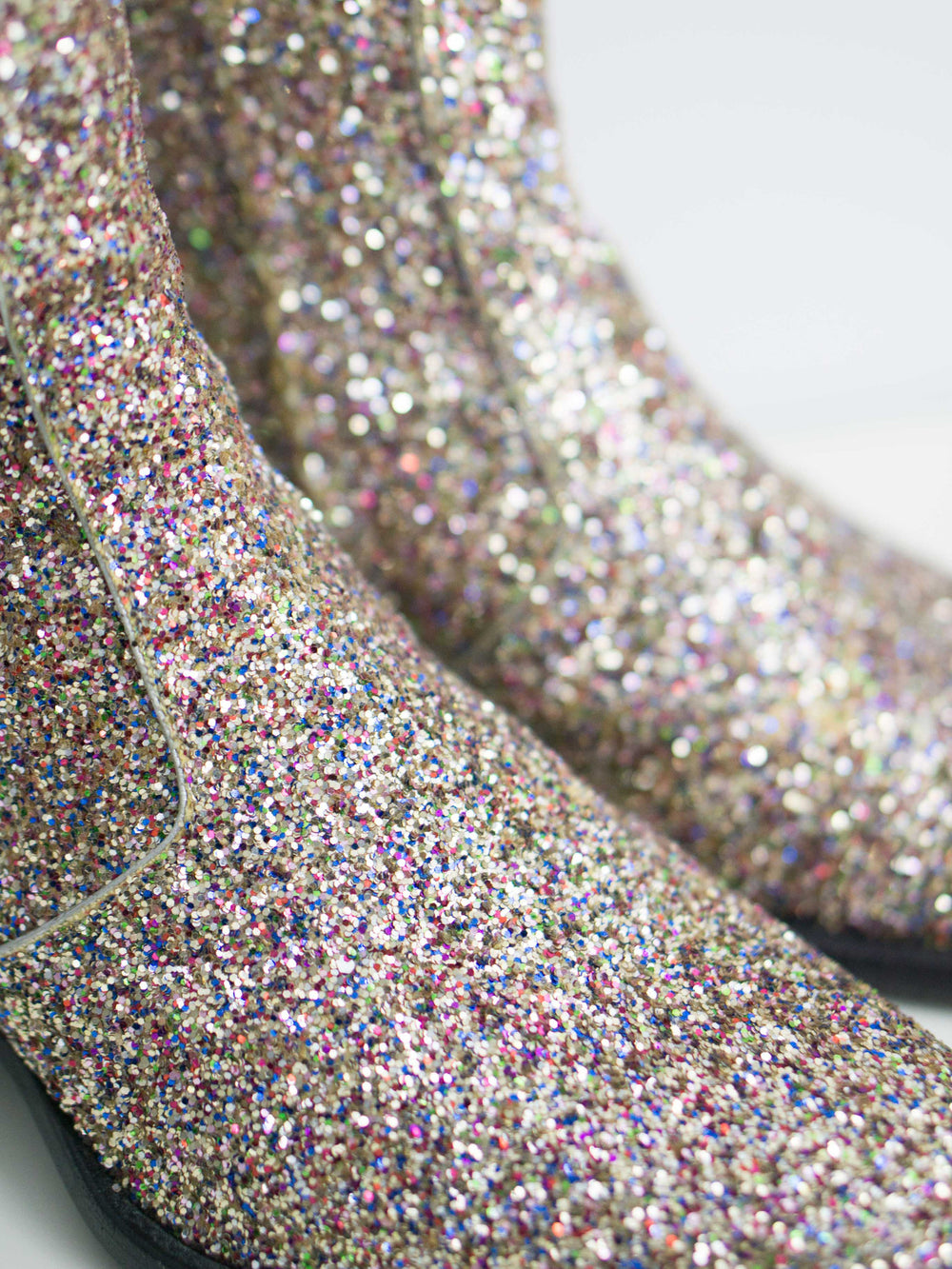 Saint Laurent Paris SS16 Glitter Hedi Boots