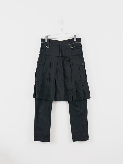 Undercover SS03 Distressed Kilted Trouser
