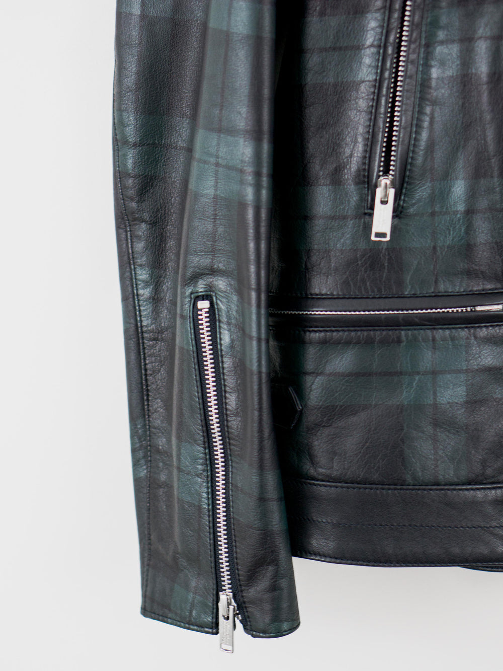 Undercover SS15 Plaid Leather Rider