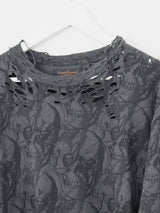 Undercover AW03 Shredded Skulls Long Sleeve