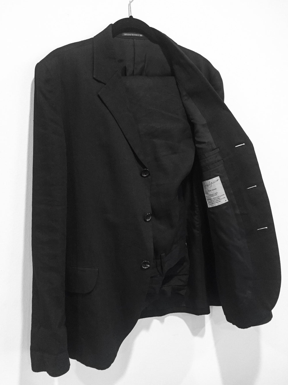 Yohji Yamamoto Pour Homme SS09 Don't Do That Suit