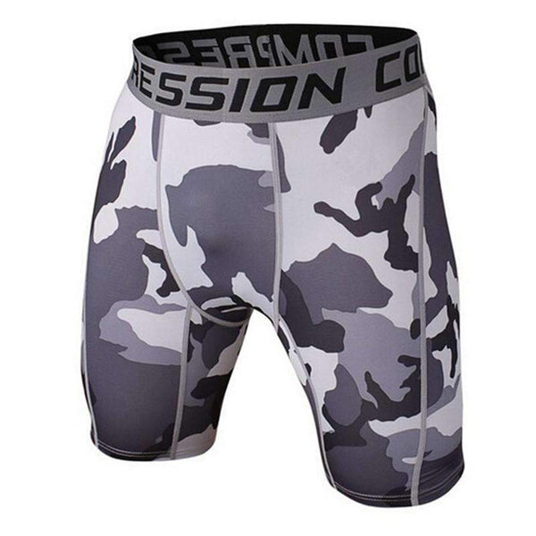 Camouflage Mens Fitness Compression Shorts