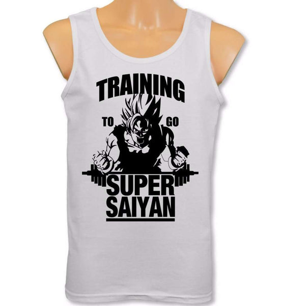 Training to go Super Saiyan Dragonball Tank Top