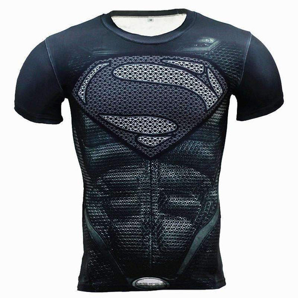 3D Superhero Compression Tshirts