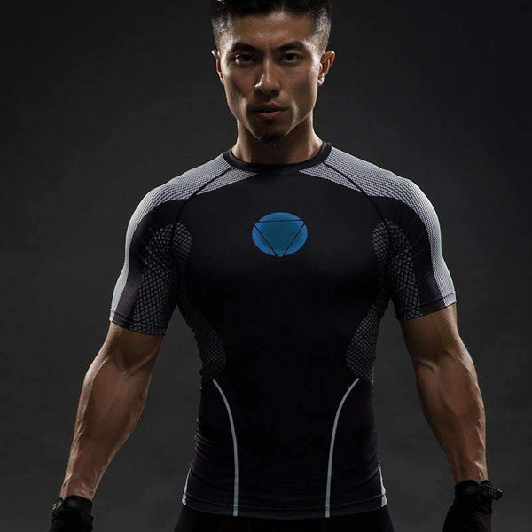 3D Iron Man Bodybuilding Compression T-shirt