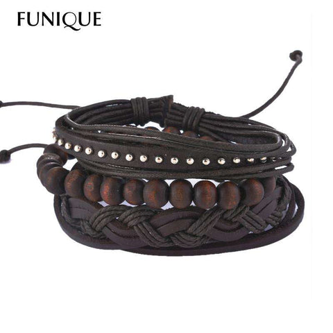 Multilayer Leather Bracelet for Men and Women