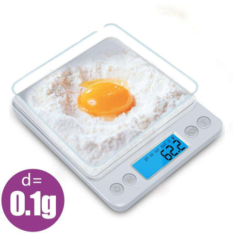 High Precision Portable Kitchen Scale for Fitness and Bodybuilding (3000gx0.1g)