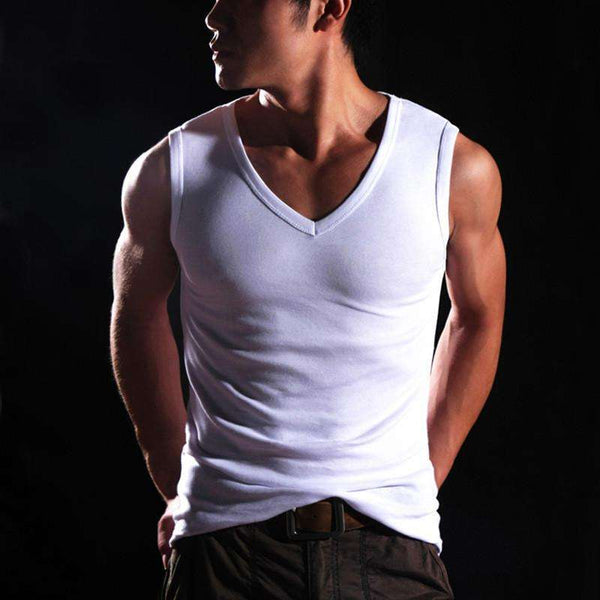 Men's Cotton Sleeveless Vest for Bodybuilding