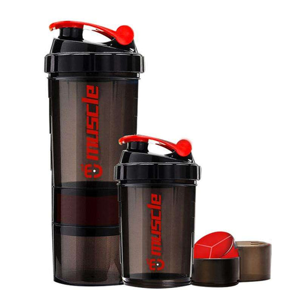 Whey Protein Shaker with 3 Layer Separation