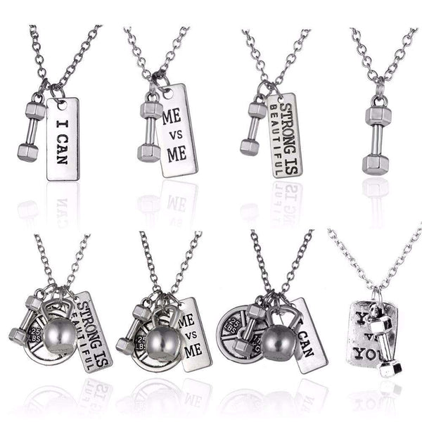 Fitness and Bodybuilding Pendant Stainless Steel