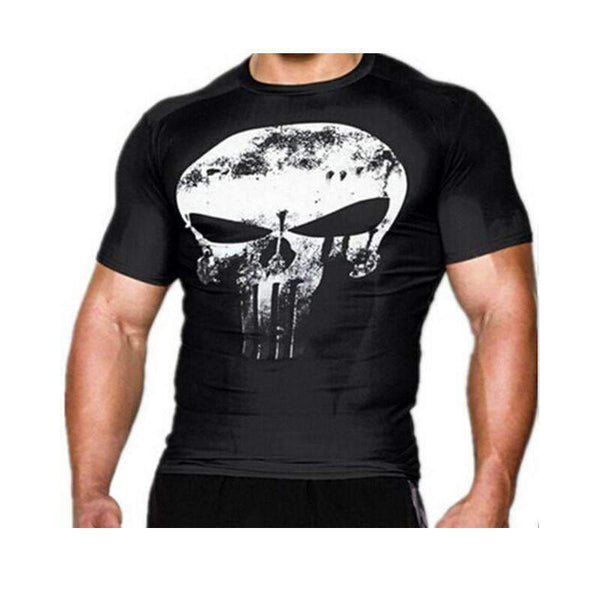 3D Punisher Compression T-Shirt - High Quality