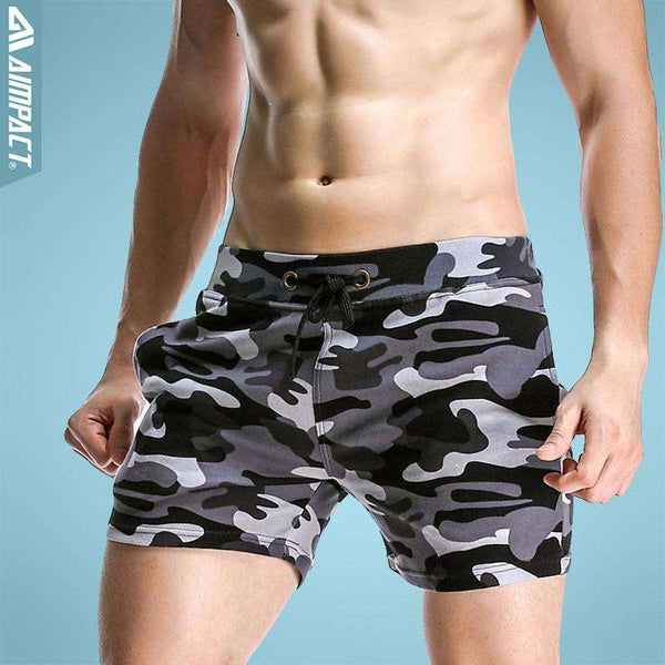 Cotton Camouflage Elastic Workout Shorts