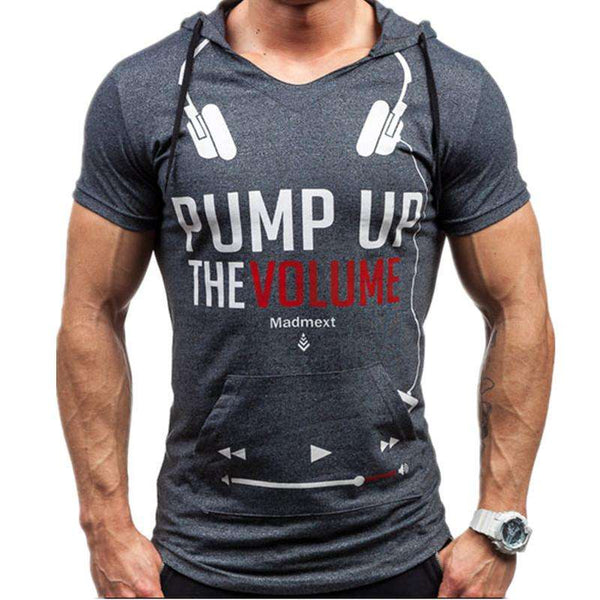Pump up the Volume Hooded Tshirt