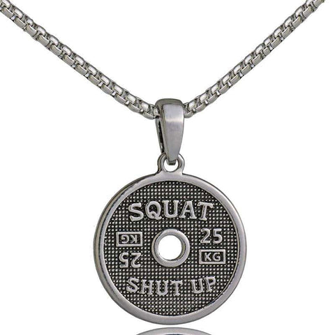 Shut Up and SQUAT Necklace Stainless Steel Chain