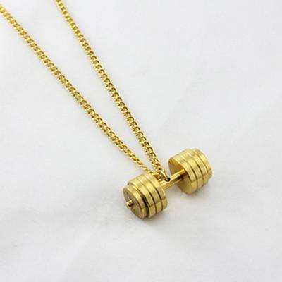 Stainless Steel Dumbell Necklace - Premium Quality