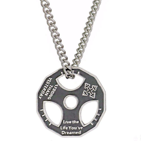 Live the Life you Dreamed - Stainless Steel Fitness Pendant