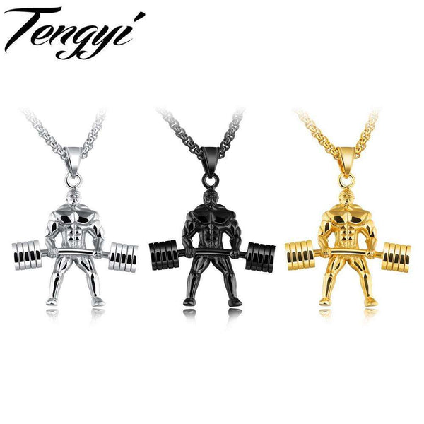 Strong Man Stainless Steel Fitness Necklace
