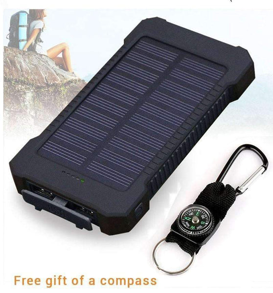 20000mAh Portable Solar Power Bank with Dual USB