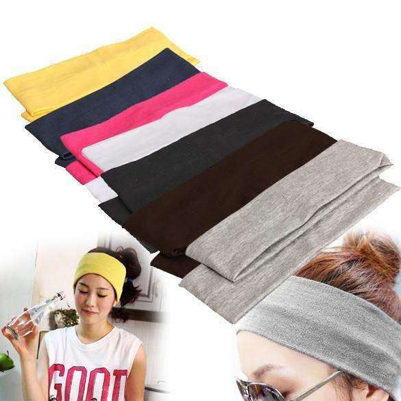Comfortable Elastic Cotton Hair Bands for Yoga 44def103d8c