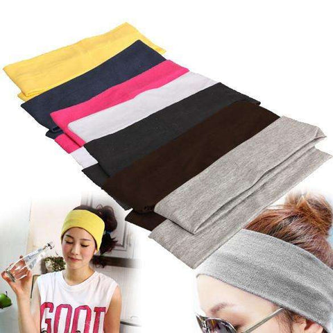 Comfortable Elastic Cotton Hair Bands for Yoga, Dance and Workout