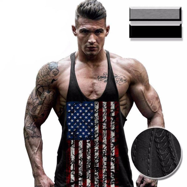 National Flag Tank-top for Bodybuilding