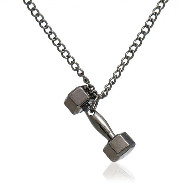 FREE Fitness Fashion Dumbell Pendant Necklace for Bodybuilding