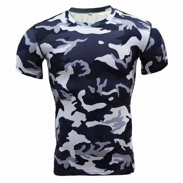 Camouflage Compression Fitness Tshirt 2017
