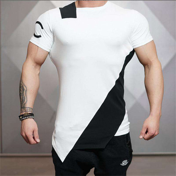 Slim Fit and Crime Short Engineered T-Shirt for Bodybuilding Lovers