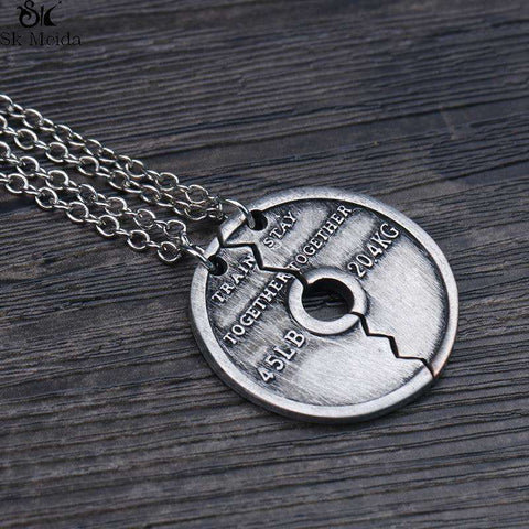 Train Together Stay Together Piece Puzzle Pendant