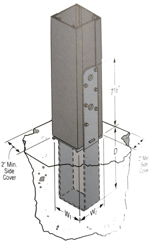 metal building foundation post saddle