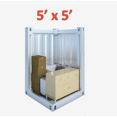 PORTABLE SELF STORAGE POD 5X5 STEEL STORAGE BUILDINGS - SHIPPING CONTAINER- SEA CAN-GreenTerraHomes