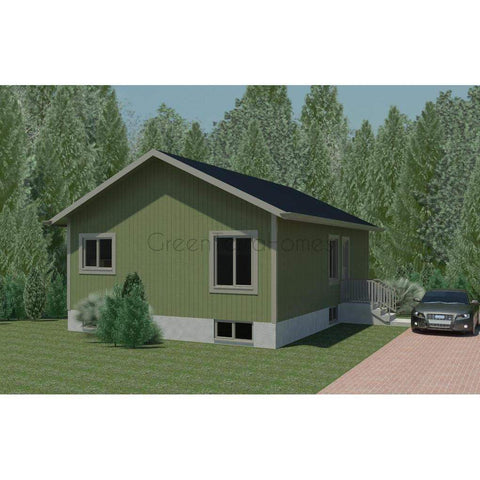 Prefab Homes Kit Home 2BR 1.5BA 960 sq ft QUINCY 24x40 Modern Kit Houses-Prefab Homes - Framing Kit-BryanBaeumler-GreenTerraHomes